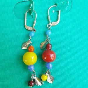 Jewelry - Glass Bead Sterling Earrings 5 for $25